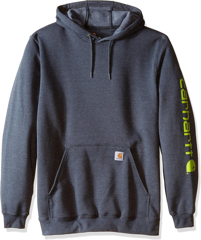 Carhartt mens Midweight Sleeve Logo Hooded Sweatshirt (Regular and Big & Tall Sizes)