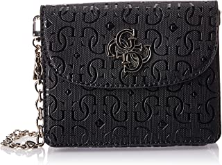 GUESS Women's Chic Shine Mini Crossbody Flap Shoulder Bag