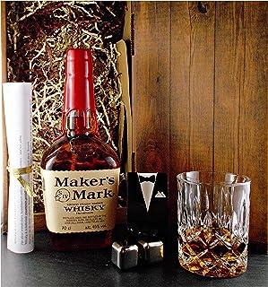 """Geschenk Maker""""s Mark Bourbon Whisky  Glas  2 Whiskey Kühlsteine"""