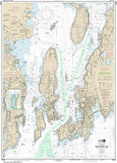 MapHouse NOAA Chart 13223 Narragansett Bay, Including Newport Harbor: 47.8 X 34.17 Paper Chart
