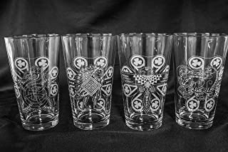 Ilvermorny Pint Glasses - Set of 4 Houses