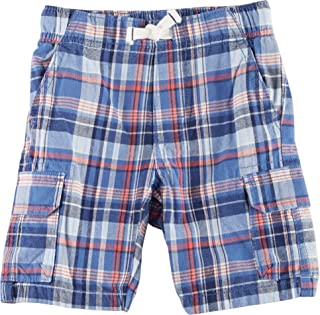 Carters幼児用Clothing Outfit Little Boys Plaid Canvas Cargo Shortsレッド カラー: レッド