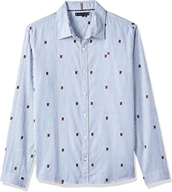 Tommy Hilfiger Camisa Fashion All Over Azul Niño 16 Azul ...