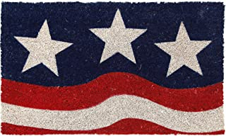 """Entryways P970 Stars and Stripes, Coconut Fiber with PVC Backing Doormat 17"""" X 28"""""""