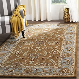 Safavieh Heritage Collection HG812A Handcrafted Traditional Oriental Brown and Blue Wool Area Rug (6' x 9')