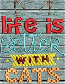 SignPluto Life is Better with Cats Laminated Funny Cat Kitten Sign SP5204