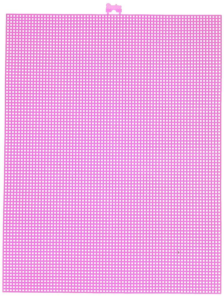 Mesh Plastic Canvas - Neon Pink - 10.5 x 13.5