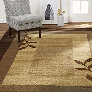 Home Dynamix Royalty Clover Contemporary Modern Area Rug, Geometric Brown/Blue 5'2
