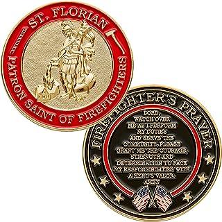 Hero`s Valor St. Florian Patron Saint of Firefighters Prayer Single Coin (1-Pack)