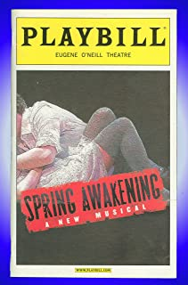 Spring Awakening, Broadway playbill + Lea Michele , Jonathan Groff , GLEE