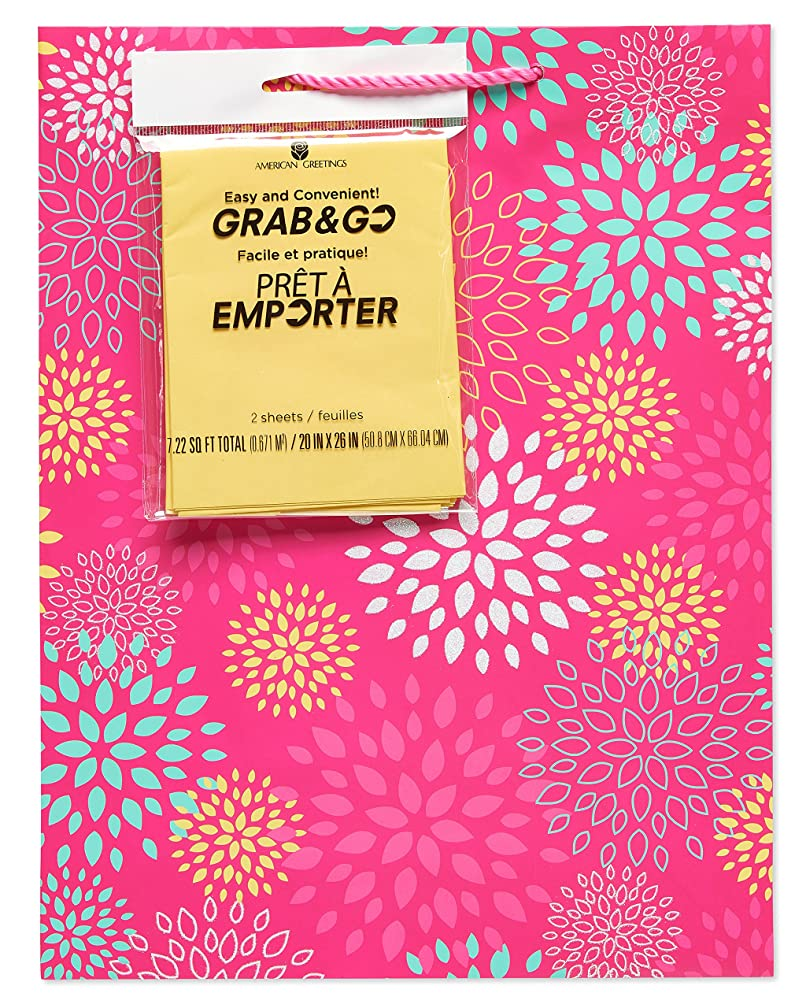 American Greetings Gift Bag & Tissue, Pink