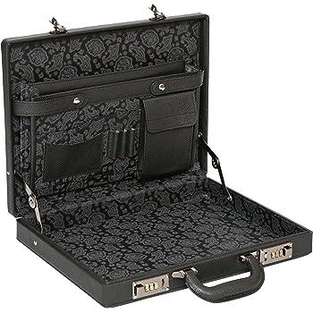 Noir Cuir Mallette Fine de Unisexe//Style Business//avec Pochette pour Tablette