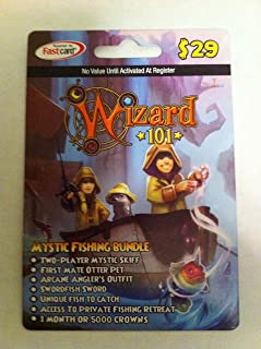 Wizard 101 Mystic Fishing Bundle Prepaid Game Card