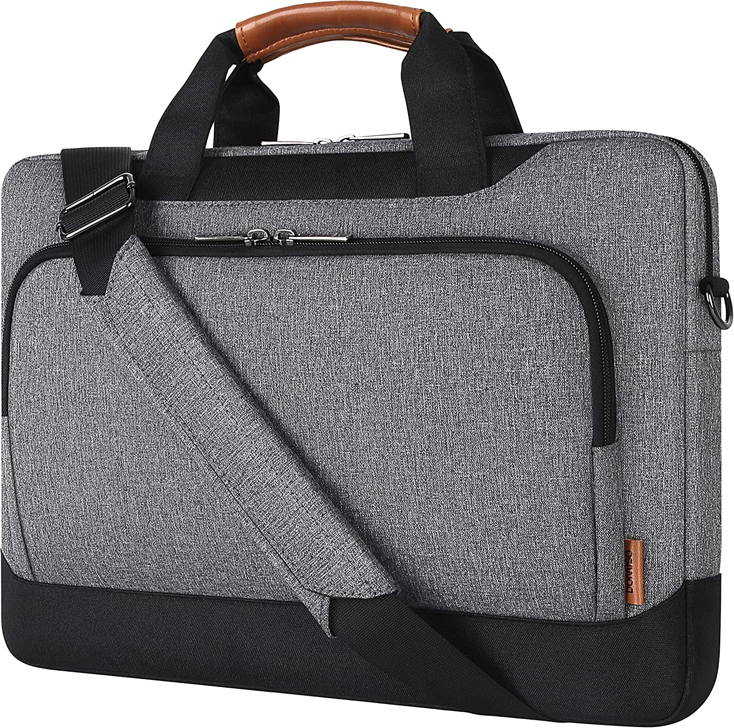 DOMISO 15 - 15.6 Inch Laptop Shoulder Bag Sleeve Case with Strap Compatible with Lenovo 15.6