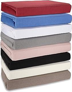 Hometex Premium Textiles Drap Housse Drap Housse jusqu'à 30 cm de Hauteur de Barre | Drap 100% Coton 145g/m² - Marque Qual...