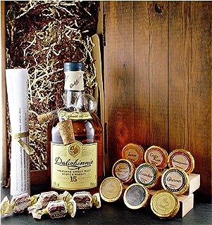 Geschenk Dalwhinnie 15 Jahre Single Malt Whisky  Glaskugelportionierer  Edelschokolade  Fudge