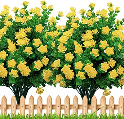 6PCS Outside Face Mums Fake Summer G Details about  /Artificial Flowers Outdoor Plastic Plants