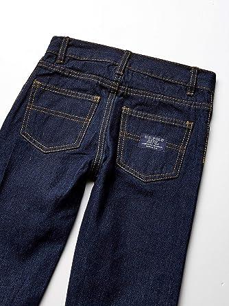 Polo Assn Color Blocked Henley Boys Little Long Sleeve Woven Shirt and Jean Set 7 U.S Burgundy Multi Plaid