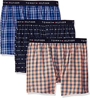 TOMMY HILFIGER Men's Cotton Classics 3 Pack Slim Fit Woven Boxer