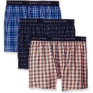 Tommy Hilfiger Men's Cotton Classics 3 Pack Slim Fit Woven Boxer