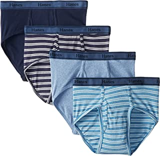 Hanes Ultimate Men's 4-Pack FreshIQ Tagless Cotton Brief