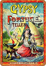 Wall-Color 7 x 10 Metal Sign - Gypsy Fortune Teller - Vintage Look