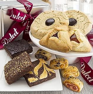 Dulcet Kosher Hamantaschen Purim Gift Basket- Hamantaschen Walnut Fudge Brownie Raspberry Rugelah