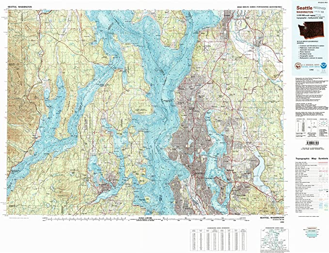 30 X 60 Minute Historical 1985 1:100000 Scale YellowMaps Austin TX topo map Updated 1992 24.1 x 43.9 in