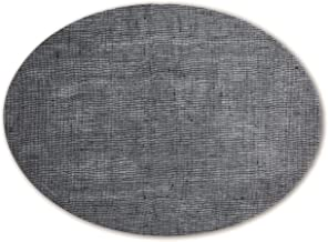 modern-twist Modern design Non-slip Heat Resistant Silicone Placemats for Dining and Decoration, Oval, Linen, Denim