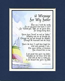 Genie's Poems A Sentimental Present For A Father, Touching 60th 70th or 80th Birthday Gift for Dad. #19,