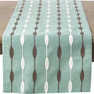SARO LIFESTYLE 2293.A1670B Modern Embroidered Design Table Runner, 16