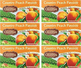 Celestial Seasonings Country Peach Passion Herbal Tea - Pack of 6