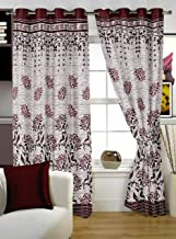 Story At Home Window Curtain, Maroon, 48 x 60, WBR4025