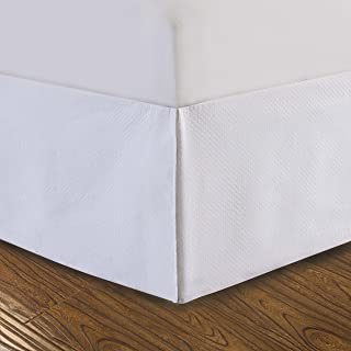 DreamSpace DRM24714WHIT03 Bedskirt, Queen, White