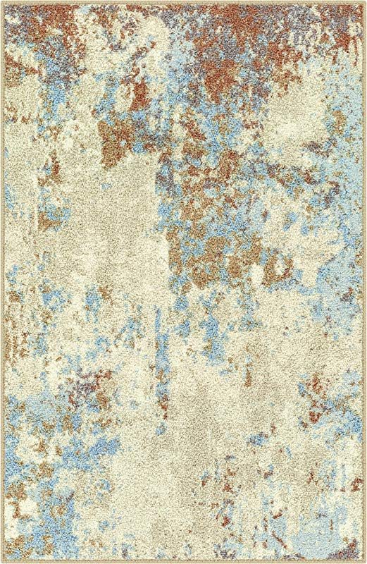 Maples Rugs Kitchen Southwestern Stone 2 6 X 3 10 Distressed Style Non Skid Washable Throw Rugs Made In USA For For Entryway And Bedroom Multi