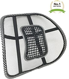 #1 New Lightweight Mesh Back Support with Massage Vent Posture Corrector Orthopedic Massage Pressure Point Ergonomic Design Lower Back Pain Support Car Seat Chair Cushion Pad for Office, Car,Travel