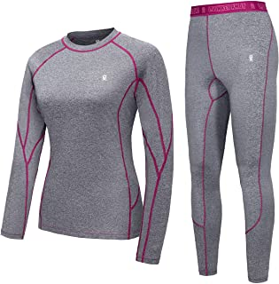 Little Donkey Andy Women's Soft Thermal Underwear Long Johns Set Active Performance Top & Bottom Base Layer