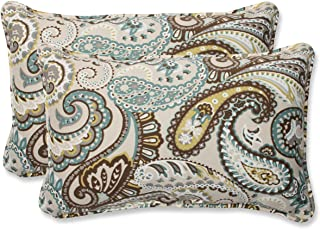 208fc2c0bfc Pillow Perfect Outdoor Tamara Paisley Quartz Rectangular Throw Pillow