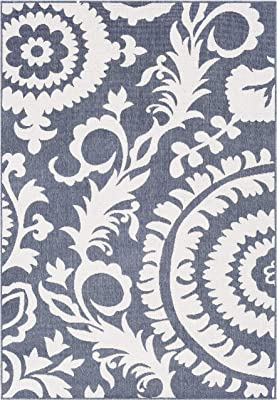 """Artistic Weavers Alysia Charcoal and White Indoor/Outdoor 8'9"""" x 12'9"""" Area Rug, 8'10"""" x 12'10"""""""