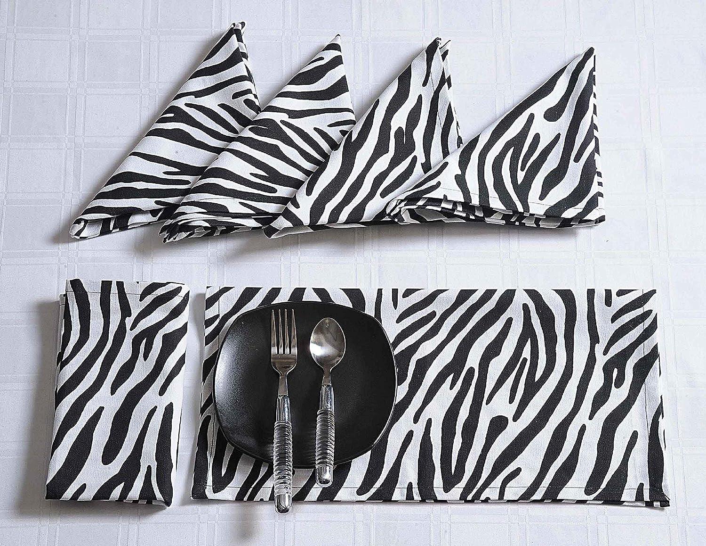 Shalinindia Modern Print Seasonal Wrap Introduction Cotton Dinner x Napkins Long-awaited 20