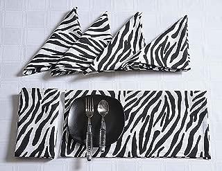 ShalinIndia Modern Print Cotton Dinner Napkins - 20