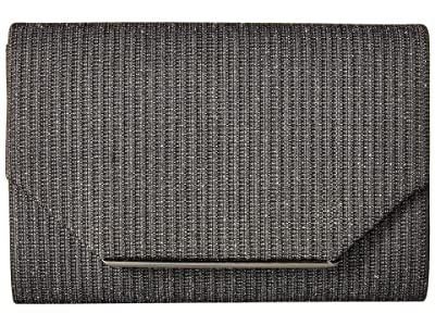 Jessica McClintock Alexis Sparkle Flap (Pewter) Handbags