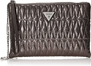Guess Pixi Wristlet Clutch, Bags Crossbody Woman, Pewter, One Size