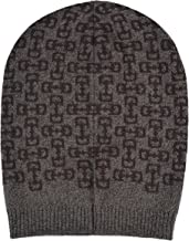 Gucci Unisex Multi-Color 100% Wool Beanie Hat One Size Black/Brown
