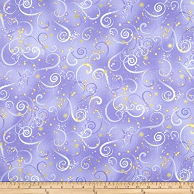 Benartex Dragonfly Kanvas Dance Swirling Sky Medium Purple, Quilt Fabric by the Yard