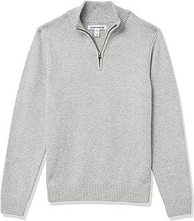 Men's Long-Sleeve Soft Touch Quarter-Zip Sweater