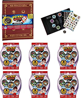 Yo-kai Watch Yo-kai Medallium Collection Book with 6 Yo-Kai Series 2 Blind Bags with 18 Random Medals Bundle