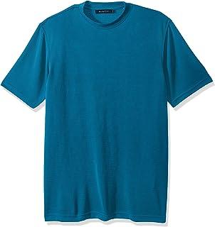 Bugatchi Mens JCF1643F50 Classic Fit Durable Microfiber Short Sleeve Crew Neck Short Sleeve Shirt