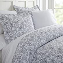 Becky Cameron Patterned Duvet Cover Set, TWIN, Coarse Paisley Navy