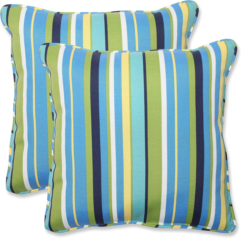 Popular standard Over item handling Pillow Perfect Outdoor Indoor Stripe Lagoon Topanga Throw